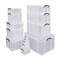 Caixa de arrumação - Comprimento 480 mm - Modelo transparente