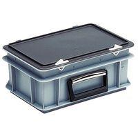 Caixa-maleta standard com tampa e dobradiças - Comprimento 400 mm