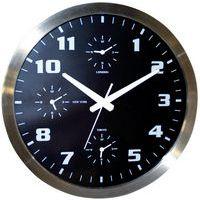 54de1065630 Relógio de parede com 4 fusos horários