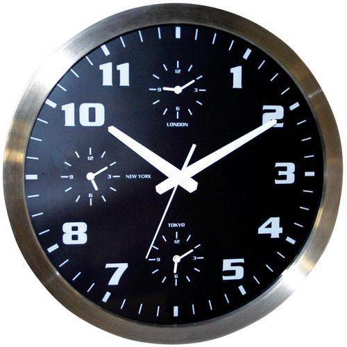 Relógio de parede com 4 fusos horários