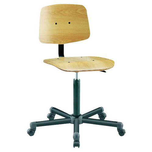 Cadeira de oficina baixa Tecnik - Com rodízios