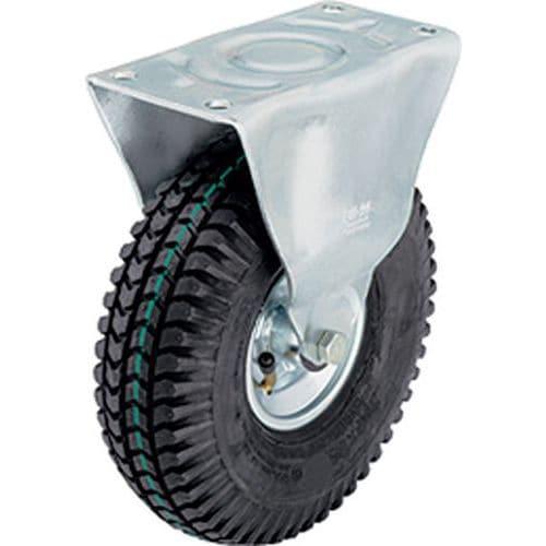 Rodízio fixo com placa - Capacidade de carga de 75 a 250 kg