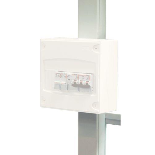 Conduta técnica 1 ou 2 luminárias para cabinas de oficina
