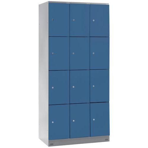 Cacifo com 12 compartimentos Collectivité - 3 colunas de 300 mm de largura - Com base