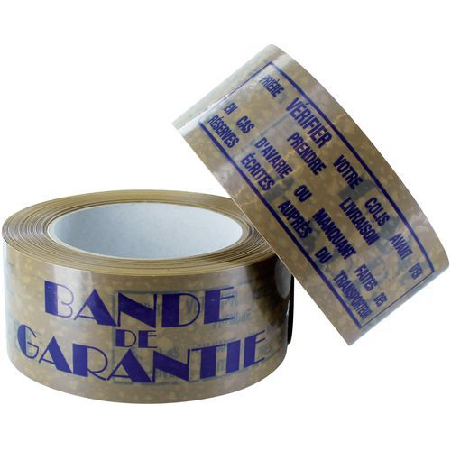 Fita adesiva PVC - Impresso - Faixa de garantia