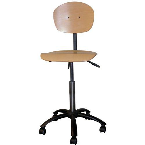 Cadeira robusta - Baixa - Com rodízios