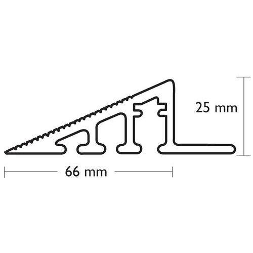Rampa de acesso para pisos gradeados em plástico