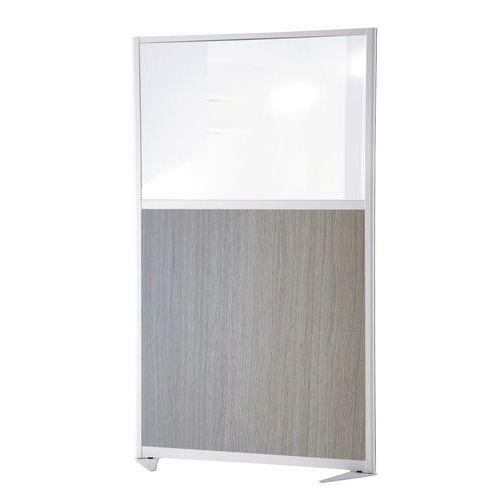 Divisória de separação moderna - Painel semividrado - Altura 150 cm