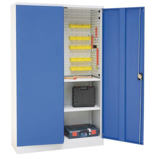 Armário de portas rebatíveis em kit com painel - Alto - Manutan
