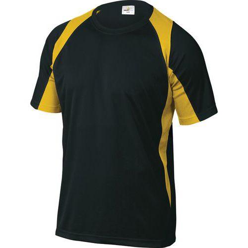T-shirt de trabalho Bali - Preto/amarelo