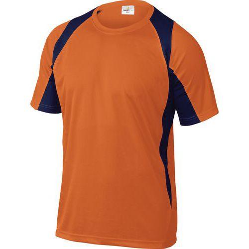 T-shirt de trabalho Bali - Laranja/azul