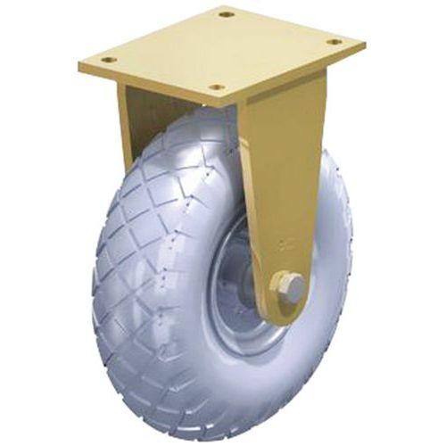 Rodízio fixo - Capacidade de carga de 350 a 525 kg