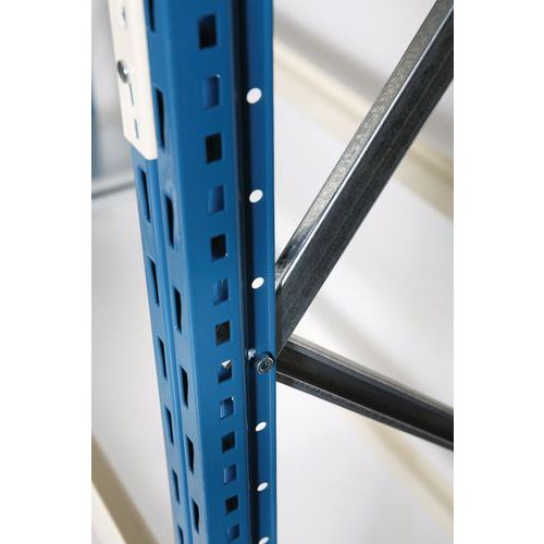 Ilharga para Estante Mini-Rack Pro - Altura 2500 mm - Azul
