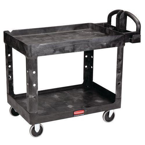 Chariot plastique 2 plateaux - Charge 226 kg