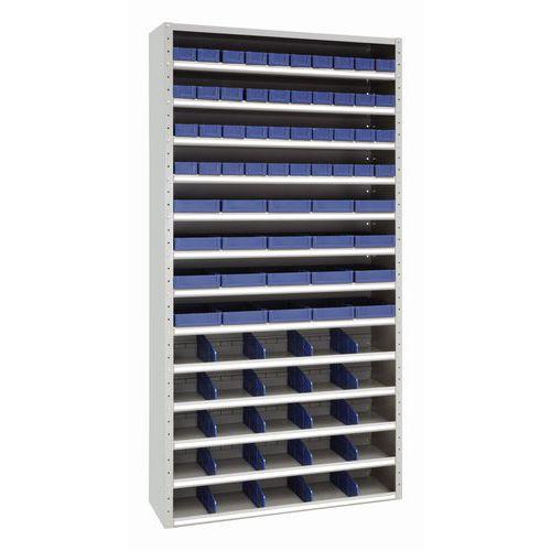 Armário de compartimentos com recipientes amovíveis – Manutan