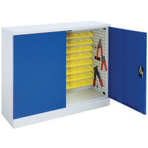 Armário com portas rebatíveis em kit com painel - Baixo - Manutan