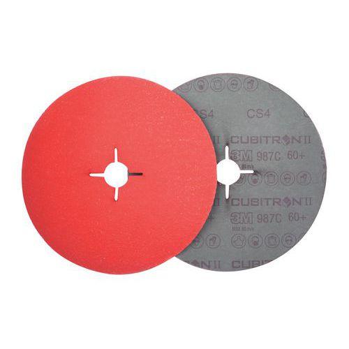 Disco de fibra Cubitron II 987C - Grão de 36 a 80