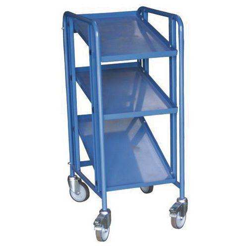Carro inclinável em aço, para caixas - 3 a 5 plataformas