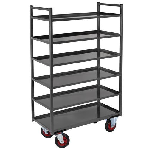 Móvel de apoio metal - 6 plataformas - Capacidade 400 kg