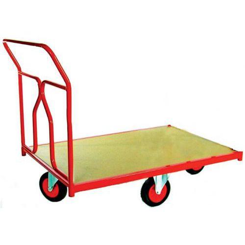 Carro com revestimento tubular e rodas em losango - Capacidade 500 kg - 1 espaldar