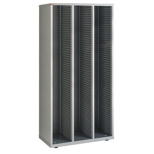 Armário de 3 colunas com gavetas