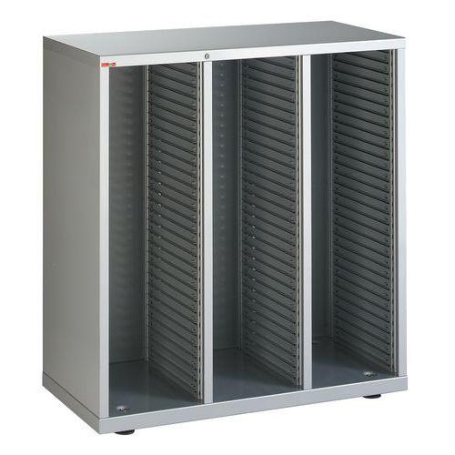 Balcão de 3 colunas com gavetas