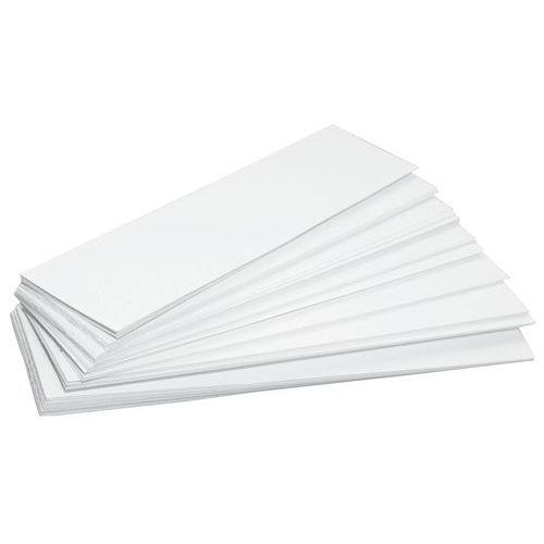 Etiqueta em forma de faixa para caixa de bico – Conjunto de 100