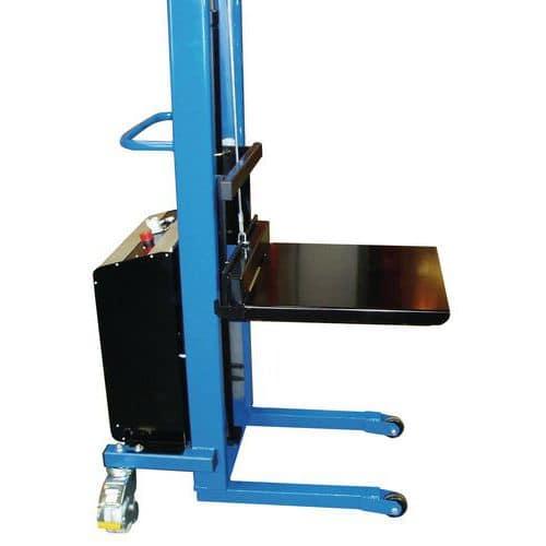 Plataforma adaptável a garfos de empilhador manual