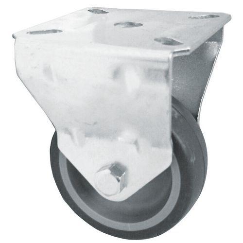 Rodízio fixo com estrutura em platina – Capacidade de carga: 40 a 205 kg