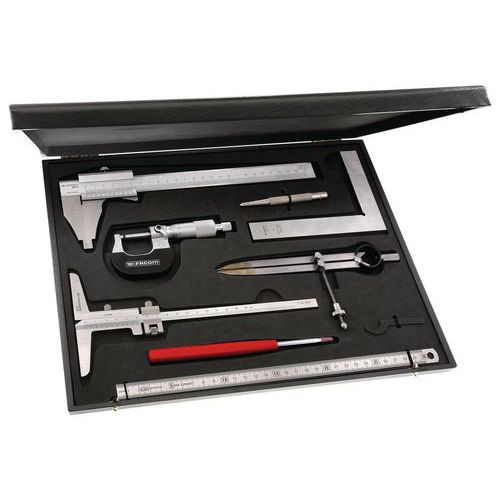 Caixa de metrologia-controlo 8 ferramentas