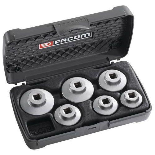 Composição de 6 chaves de caixa para tampas com tomada sextavada dos grupos filtragem com filtros de óleo de e