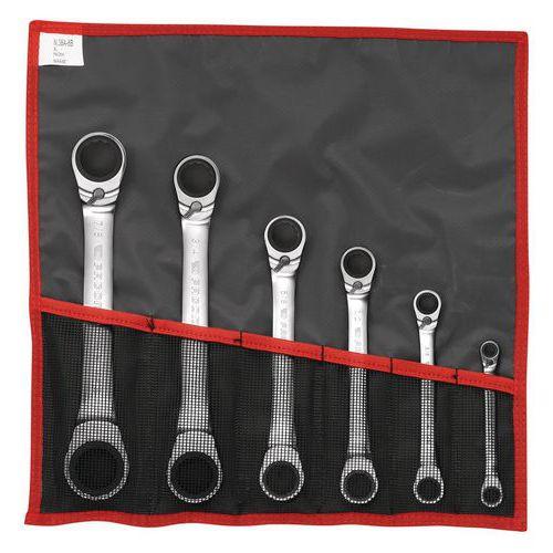 Jogo de chaves luneta com roquete inclinadas a 15° em polegadas