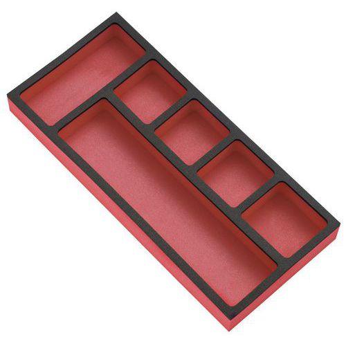 Módulo de arrumação para peças pequenas em tabuleiro de espuma