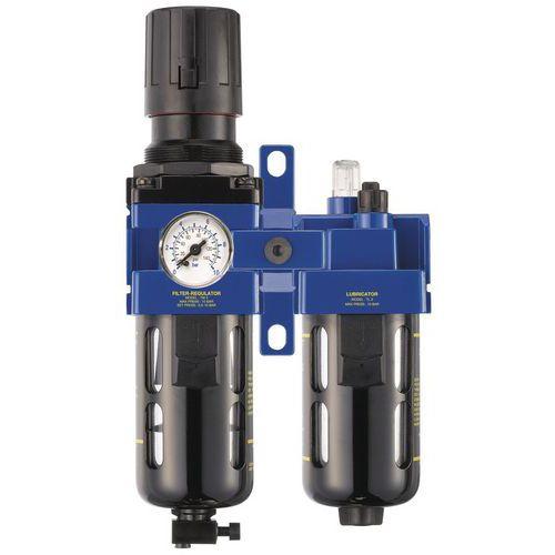 Filtro regulador - lubrificador 1/4 Gás BSP