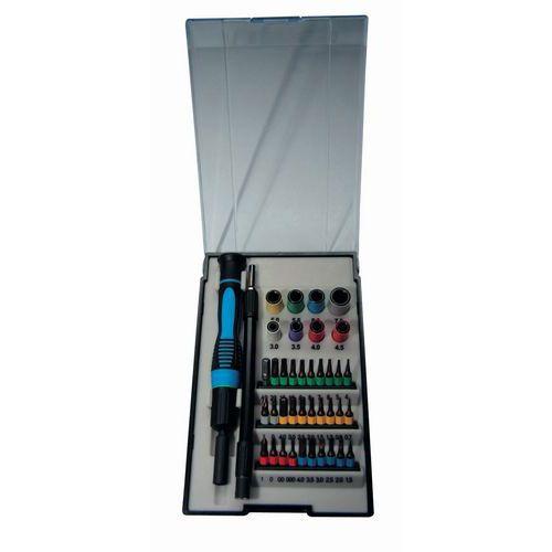 Caixa de chaves de parafusos e pontas de eletricista - 40 peças