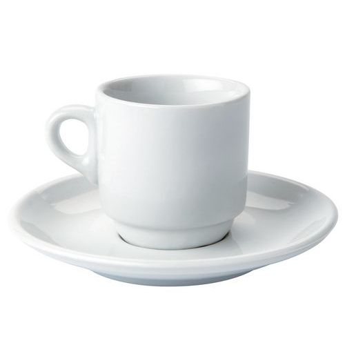 Chávena de café expresso com pires