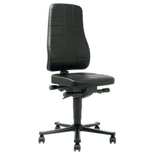 Cadeira de oficina ergonómica baixa, All-in-One – Com rodízios
