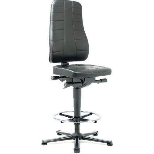 Cadeira de oficina ergonómica alta All-in-One – Com calços