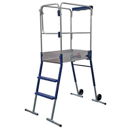 Escada móvel com plataforma individual Gazelle