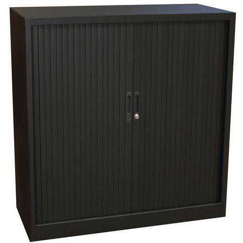 Armário baixo, liso, com portas de persiana - Manutan