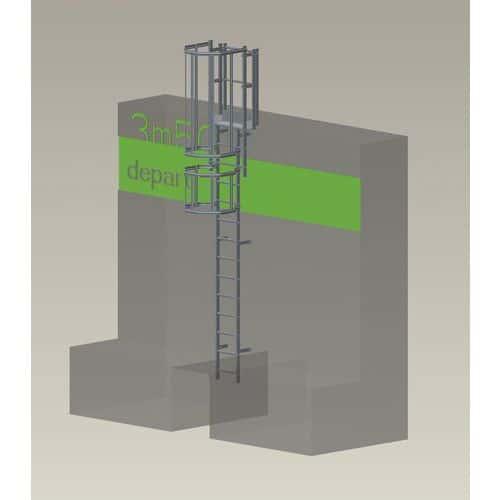 Kit completo de escada com guarda-corpo – 3,50m de altura