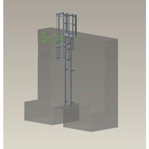 Kit completo de escada com guarda-corpo – 3,75m de altura