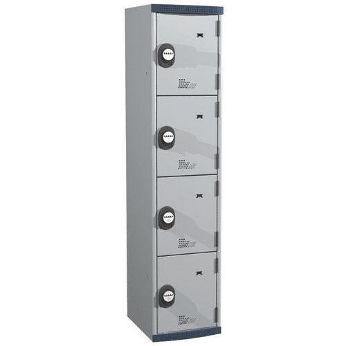 Cacifo com 4 compartimentos Seamline Optimum® – 1 coluna de 400mm de largura – Com base – Acial
