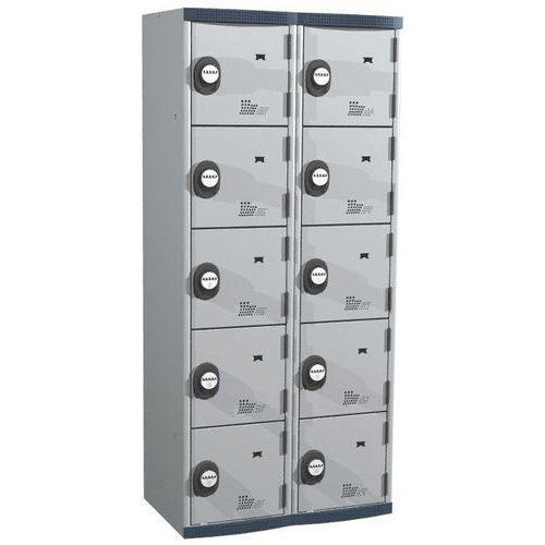 Cacifo com 10 compartimentos Seamline Optimum® – 2 colunas de 400mm de largura – Com base – Acial
