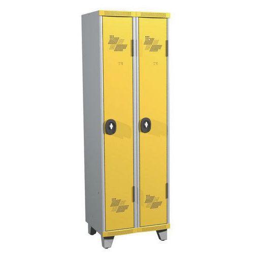 Cacifo com 2 colunas Seamline Optimum® – Coluna de 300mm de largura – Com pés – Acial