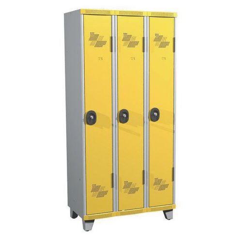 Cacifo com 3 colunas Seamline Optimum® - Coluna de 300 mm de largura - Com pés