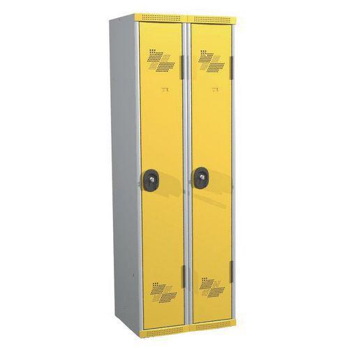 Cacifo com 2 colunas Seamline Optimum® – Coluna de 300mm de largura – Com base – Acial