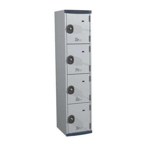 Cacifos com 4 compartimentos Seamline Optimum® – largura da coluna: 400mm – Acial