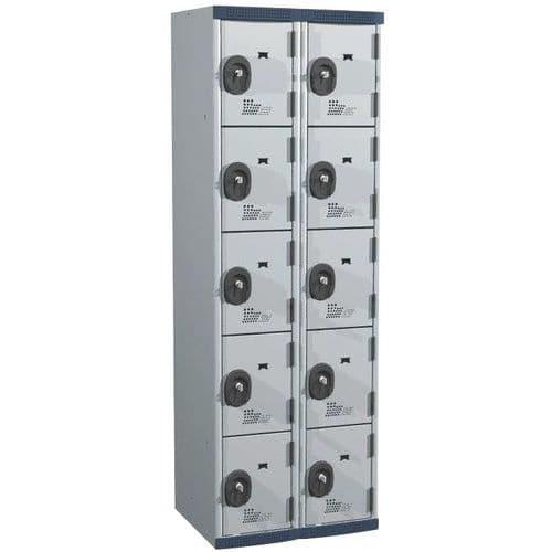 Cacifo com 10 compartimentos Seamline Optimum® – 2 colunas de 300mm de largura – Com base – Acial