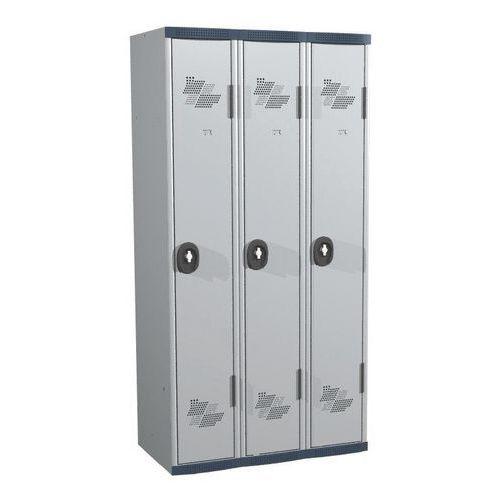 Cacifo com 3 colunas Seamline Optimum® – Coluna de 300mm de largura – Com base – Acial